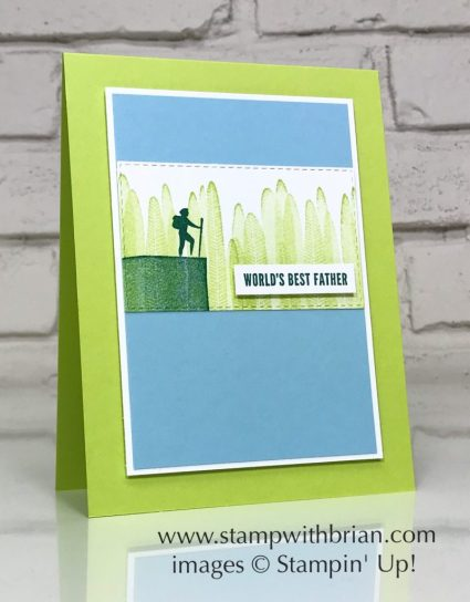 Seize the Day, Itty Bitty Greetings, Stampin' Up!, Brian King, Father's Day card