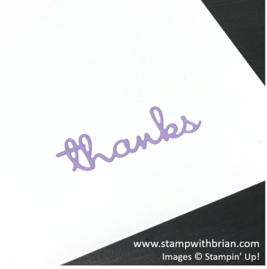Using Adhesive Sheets with Thin Dies, Stampin' Up!, Brian King