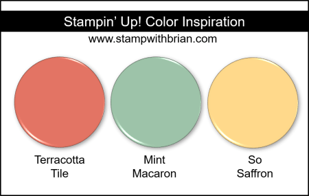 Stampin' Up! Color Inspiration - Terracotta Tile, Mint Macaron, So Saffon