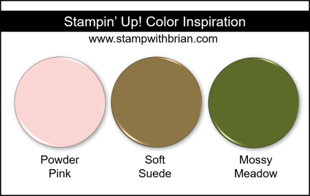 Stampin' Up! Color Inspiration - Powder Pink, Soft Suede, Mossy Meadow