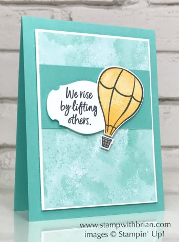 Above the Clouds, Follow Your Art Designer Series Paper, Stampin' Up!, Brian King