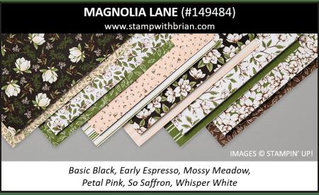 Magnolia Lane Designer Series Paper, Stampin' Up! 2019 Annual Catalog, 149484