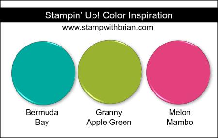 Stampin' Up! Color Inspiration - Bermuda Bay, Granny Apple Green, Melon Mambo