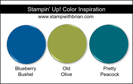 Stampin' Up! Color Inspiration - Blueberry Bushel, Old Olive, Pretty Peacock