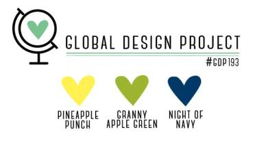 Stampin' Up! Color Inspiration - Pineapple Punch, Granny Apple Green, Night of Navy