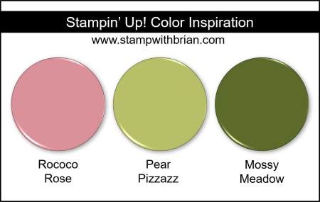 Stampin' Up! Color Inspiration - Rococo Rose, Pear Pizzazz, Mossy Meadow