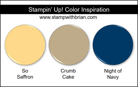 Stampin' Up! Color Inspiration - So Saffron, Crumb Cake, Night of Navy