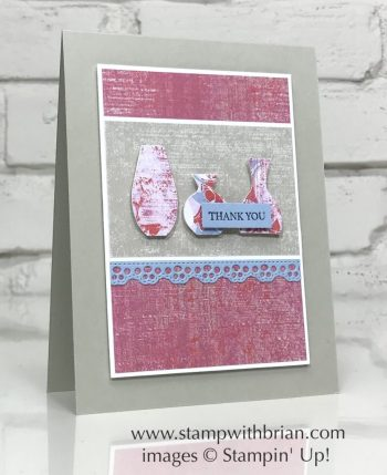 Woven Heirlooms, Woven Threads Designer Series Paper, Vases Builder Punch, Stampin' Up!, Brian King