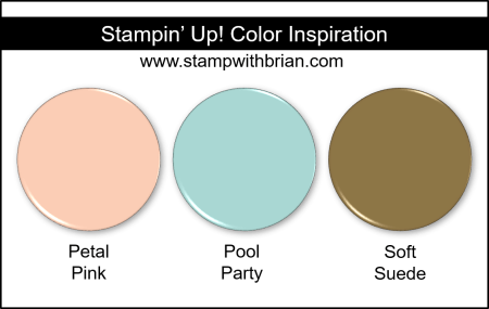 Stampin' Up! Color Inspiration - Petal Pink, Pool Party, Soft Suede