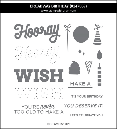 Broadway Birthday, Stampin' Up! 147067