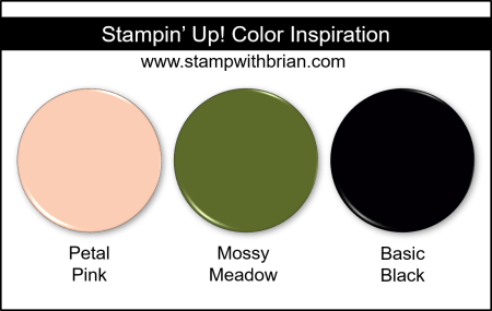 Stampin' Up! Color Inspiration - Petal Pink, Mossy Meadow, Basic Black