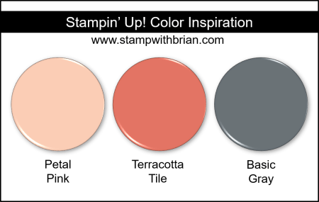Stampin' Up! Color Inspiration - Petal Pink, Terracotta Tile, Basic Gray