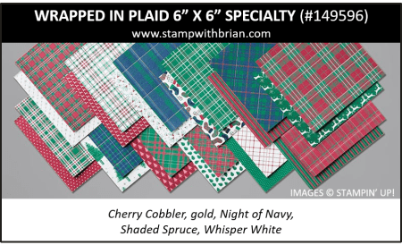 "Wrapped in Plaid 6"" x 6"" Specialty Designer Series Paper, Stampin' Up! 2019 Holiday Catalog, 149596"