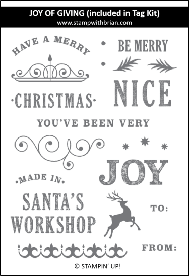 Joy of Giving (included in the Joy of Giving Tag Kit), Stampin' Up!