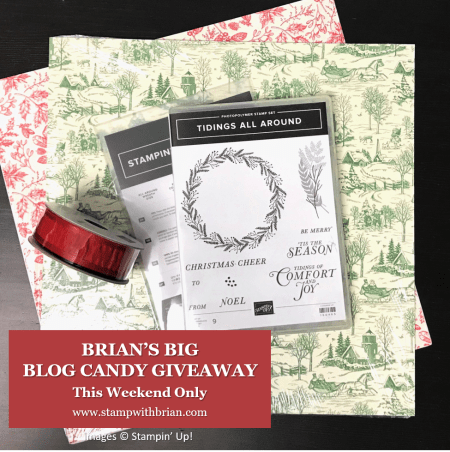 Brian's Big Blog Candy Giveaway, Stampin' Up! Toile Tidings