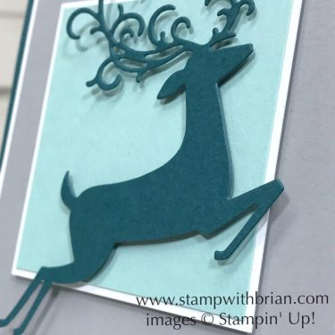 Detailed Deer Dies, So Many Stars, Stampin' Up!, Brian King, Christmas Card
