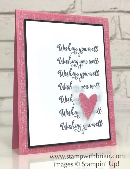 Gather Together, Stampin' Up!, Brian King, Wishing You Well Card