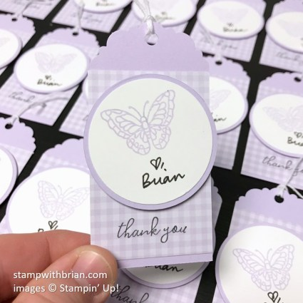 Painted Glass, Free as a Bird, Delightful Tag Topper, Stampin' Up!, Brian King