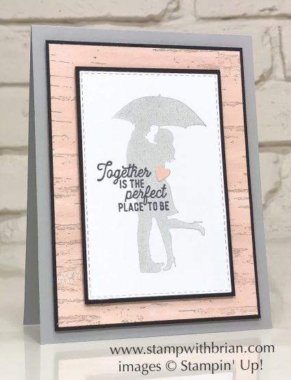Silhouette Scenes, Birch, Stampin' Up!, Brian King, engagement card