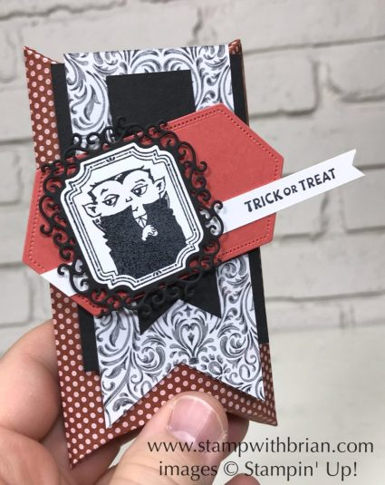 Spooktacular Bash Bundle, Itty Bitty Greetings, Stampin' Up!, Brian King, Halloween treat box