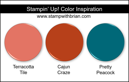 Stampin' Up! Color Inspiration - Terracotta Tile, Cajun Craze, Pretty Peacock