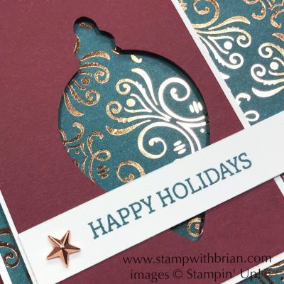 Brightly Gleaming, Itty Bitty Christmas, Gleaming Ornaments, Stampin' Up!, Brian King