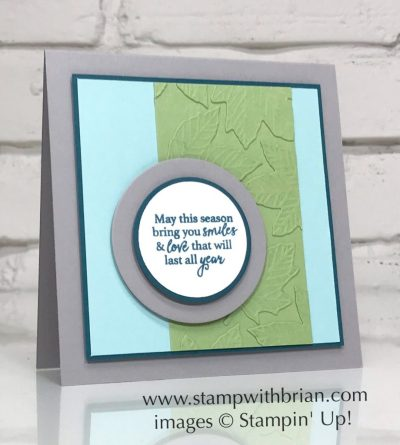 Gather Together Bundle, Stampin' Up!, Brian King, faux embossing