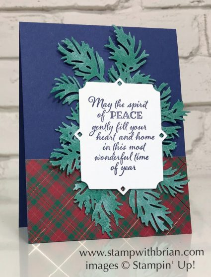 Peaceful Boughs, Stampin' Up!, Brian King, Christmas card