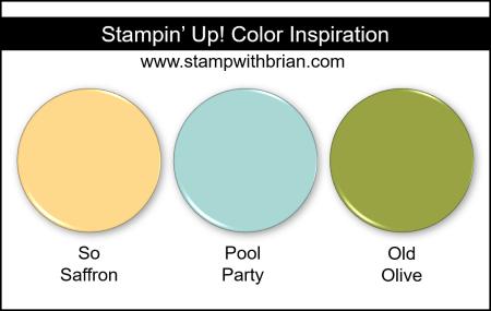 Stampin' Up! Color Inspiration - So Saffron, Pool Party, Old Olive