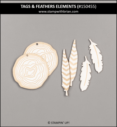 Tags & Feathers Elements, Stampin' Up! 150455