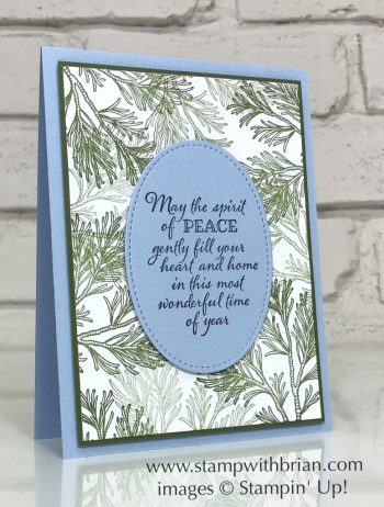 Peaceful Boughs Bundle, Stampin' Up!, Brian King