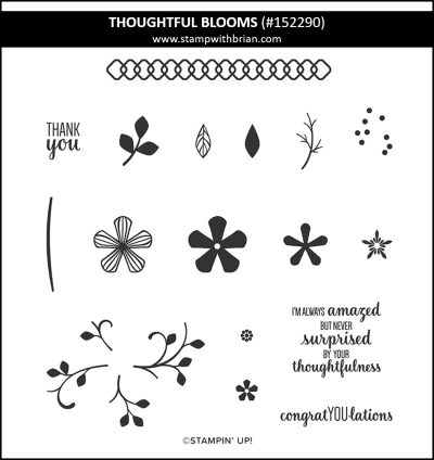 Thoughtful Blooms, Stampin Up!, 152290