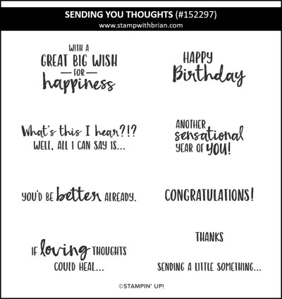 Sending You Thoughts, Stampin Up! 152297
