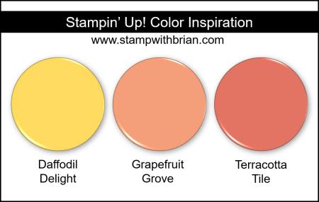 Stampin Up! Color Inspiration - Daffodil Delight, Grapefruit Grove, Terracotta Tile