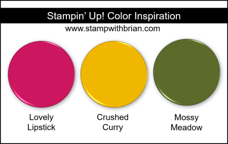 Stampin Up! Color Inspiration - Lovely Lipstick, Crushed Curry, Mossy Meadow