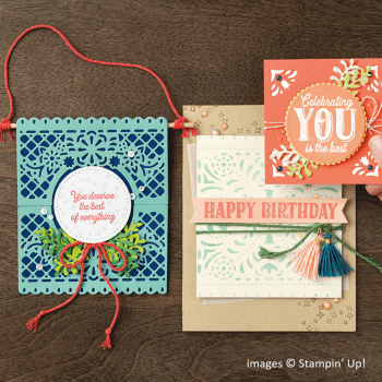 Birthday Jubilee project samples, Stampin Up!