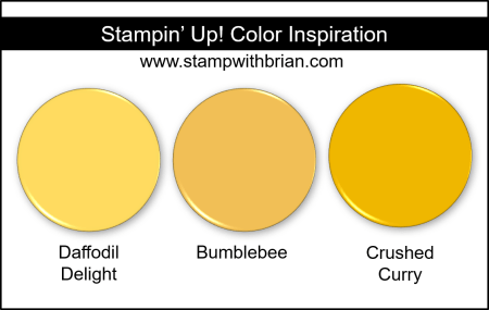 Bumblebee Color Comparisons, Stampin Up!