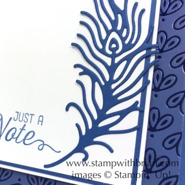 Flourishing Phrases, Detailed Peacock Dies, Stampin Up!, Brian King