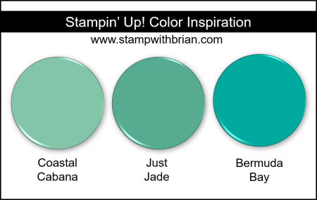 Just Jade Color Comparisons, Stampin Up!
