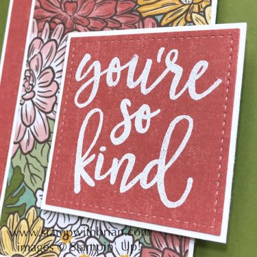 Notes of Kindness, Ornate Garden Designer Series Paper, Stampin Up!, Brian King
