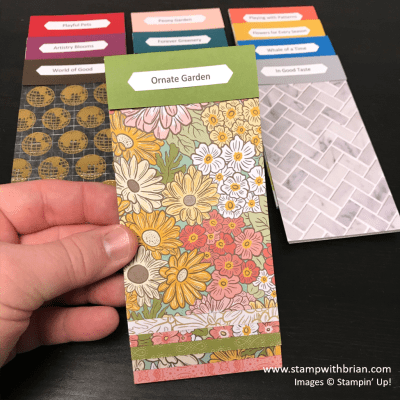 Designer Series Paper Swatch Books, Stampin Up! Brian King