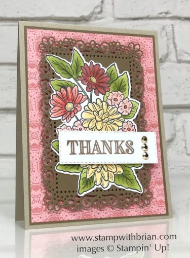 Ornate Garden, Ornate Thanks, Stampin Up!, Brian King