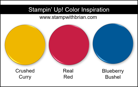 Stampin Up! Color Inspiration - Crushed Curry, Real Red, Blueberry Bushel
