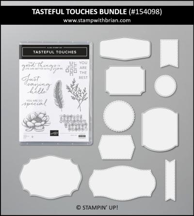 Tasteful Touches Bundle, Stampin Up!, 154098
