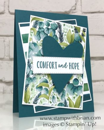 Comfort & Hope, Forever Greenery Designer Series Paper, Stampin Up!, Brian King, sympathy card