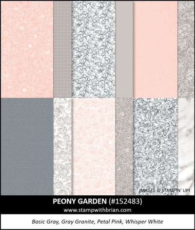Peony Garden Designer Series Paper, Stampin Up! 152483