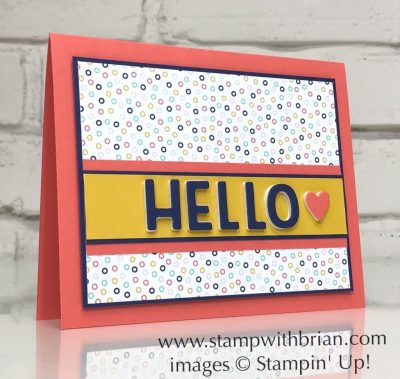 Playful Alphabet Dies, Playing with Patterns, Stampin Up!, Brian King