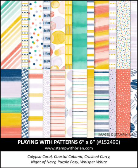 Playing with Patterns Designer Series Paper, Stampin Up!, 152490