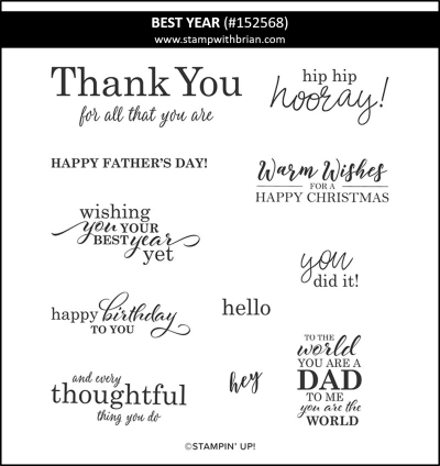 Best Year, Stampin Up! 152568