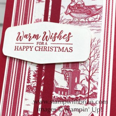 Best Year, Toile Tidings Designer Series Paper, Stampin Up!, Brian King